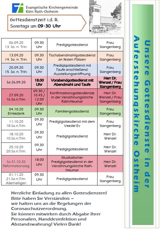 aktueller Predigtplan für die Auferstehungskirche Ostheim
