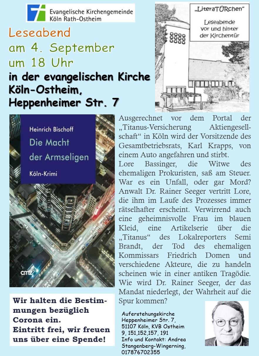 LiteraTÜRchen – Start einer neuen Veranstaltungsreihe mit Krimilesung am 04.09.2020 in Ostheim