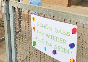 Endlich wieder Kindergarten